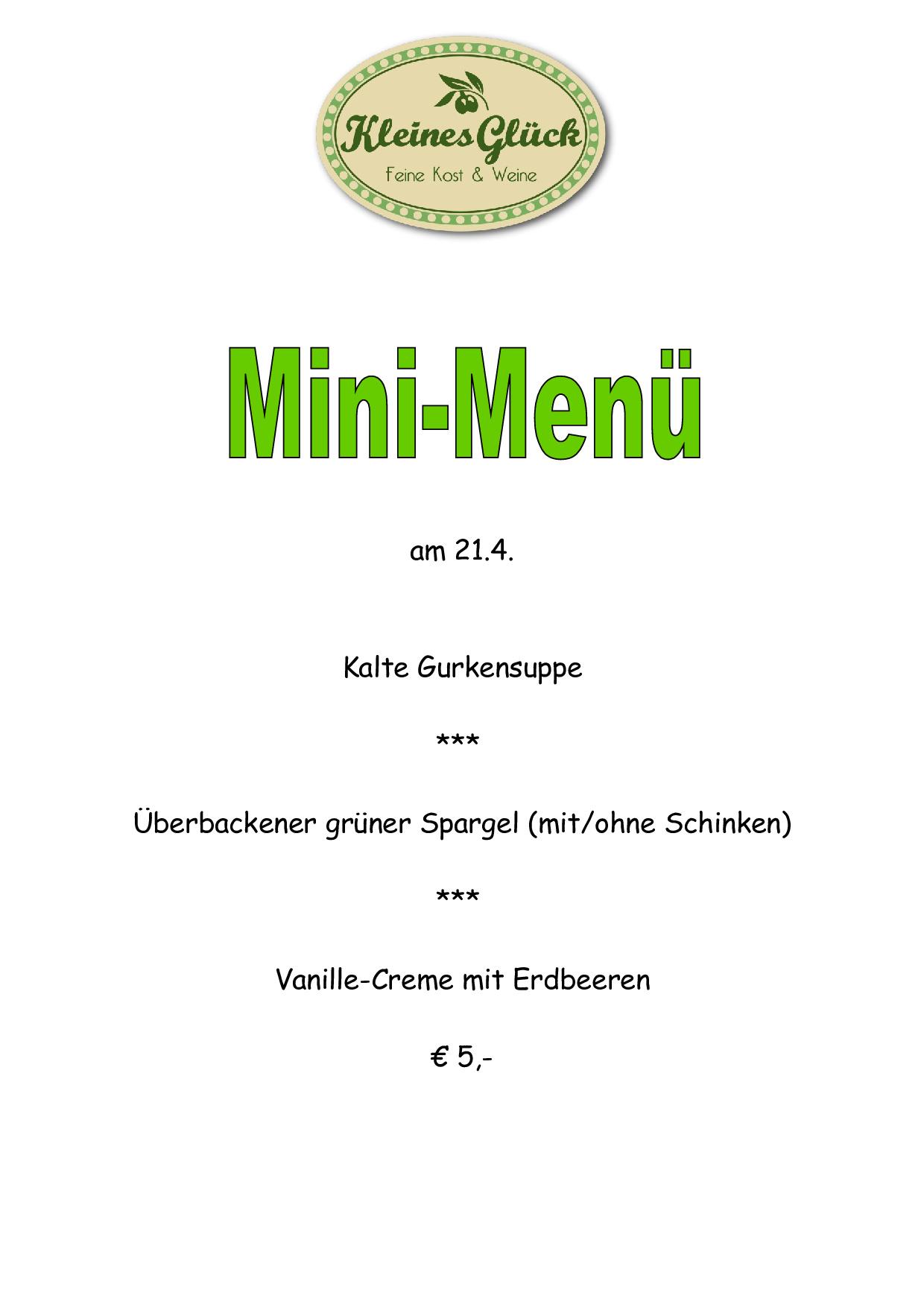 Mini-Menü